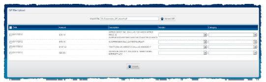 Apptricity Expense Help - Importing QIF Expenses
